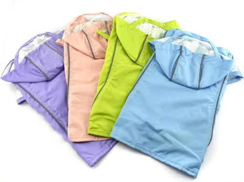 Teddy Pets Rain Coat For Small Dogs Pet Jacket Casual Waterproof Dog Clothes With 4 Colors 160909