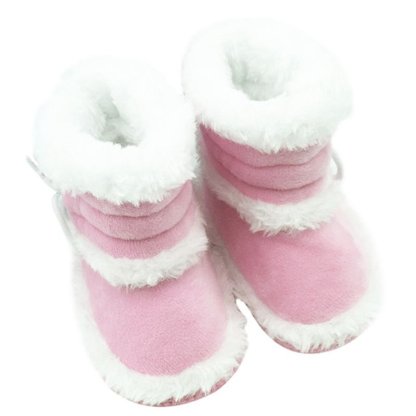 Trendy Infant Toddler Kids Girls Warm Winter Snow Shoes Baby Walker Crib Boots 0-18M