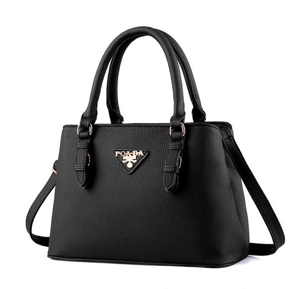 buy best on sale hot-selling genuine Women'S Fashion Designer Handbags 2016 Brand Ladys OL Commute Shoulder Bags  Street Style Boston Totes Bag Women'S Messenger Bag Black Pink Pink ...