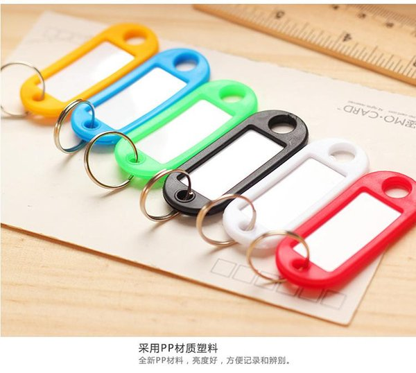 Plastic key holder plastic key card luggage tag color classification cards to the writing Hotel brand label