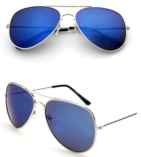 MOQ=30PCS summer woman color film sunglasses Metal sun glasses Dazzle colour goggle ladies outdoor fashion unisex adumbral free shipping