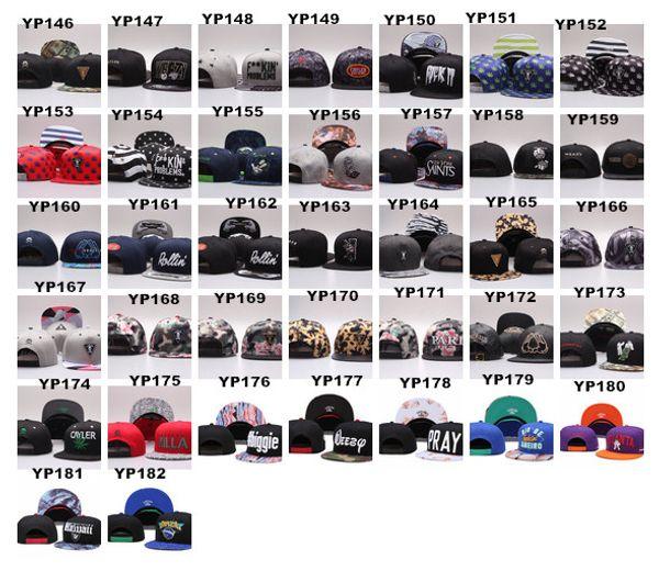 top popular Wholesale 2016 Cayler & Sons Snapbacks Cap Hip Hop Adjustable Hats Men Caps Women Ball Caps Accept Mix Order 2019