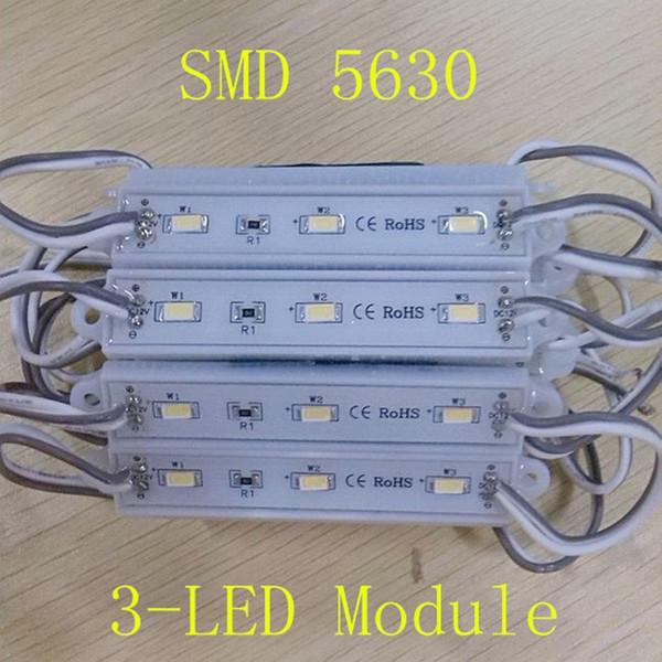 Super luminoso 5730 5630 3 LED modulo luce decorativa per il segno della lettera Pubblicità retroilluminazione impermeabile IP65 160 angolo DC 12V
