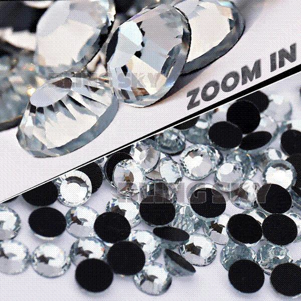AA Quality SS34 7.0-7.2mm,144pcs/Bag Clear Crystal DMC HotFix FlatBack Rhinestones strass for DIY Heat transfer Hot Fix stones M67895