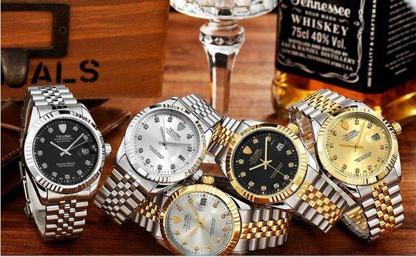 montres classiques de diamants de la mode pour les hommes designer automatique mécanique montre homme poignet en acier inoxydable argent cadeau boîtes