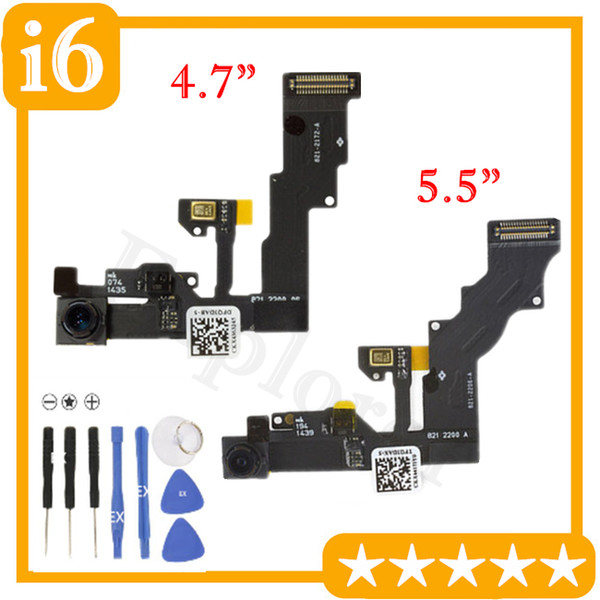 10PCS New Front Face Camera with Proximity Light Sensor Flex Cable for iPhone 6 4.7 iPhone6 Plus 5.5 Replacement Part