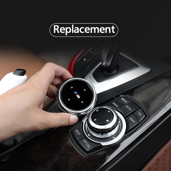 iDrive Car Multimedia botones cubierta pegatinas para BMW 3 5 serie X1 X3 X5 X6 F30 E90 E92 F10 F18 F11 F07 GT Z4 F15 F16 F25 E60 E61 accesorio