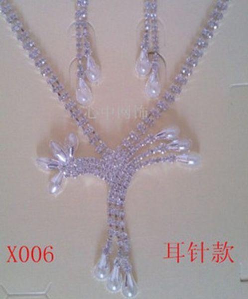 colorful crystal diamond bride wedding set necklace earings yfdgdg