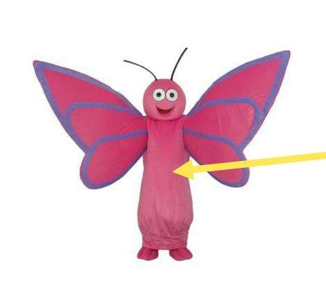high quality Real Pictures butterfly mascot costume Adult Size factory direct free shipping