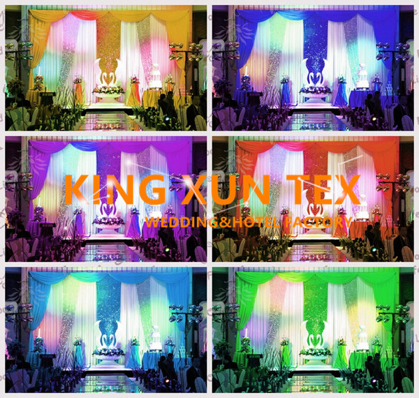 Factory New Design Wedding Backdrop Curtain Include The Color Swag And The Sequin Fabric With Best Quanlity Free Shipping