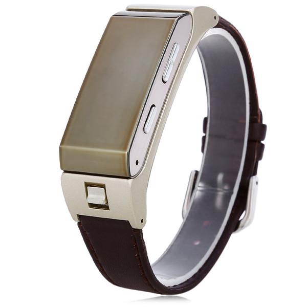 K2 Bluetooth Smart Watch Pulsera 2 en 1 Auriculares Estéreo Auriculares Pulsera Modo Dual Sleep Monitor Smartwatch para samsung S6
