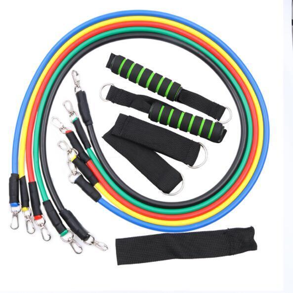 Bandas de Resistência de Fitness de alta Qualidade 11 Pçs / set Pilates Tubos De Látex Tubos de Exercício Prático Resistência Força Banda