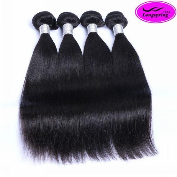Бразильская прямая волна тела необработанные 9a человеческие волосы Оптовая перу