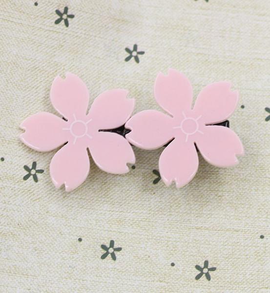 Doppel Kirschblüte Entenschnabel Clip