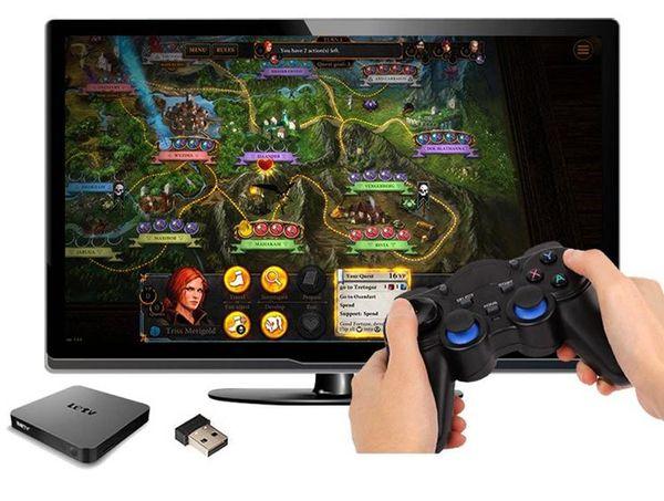 2.4G Gamepad Android Controladores inalámbricos Gamepad Joystick controlador Android para Tablet PC Smart TV Box para Samsung Xiaomi
