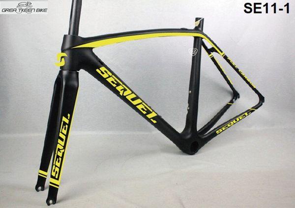 2016 super ligero full carbon T1000 bicicleta de carretera cuadro bicicleta mate brillante pasado EN-14781 prueba envío gratis 130mm hubs 700C ruedas