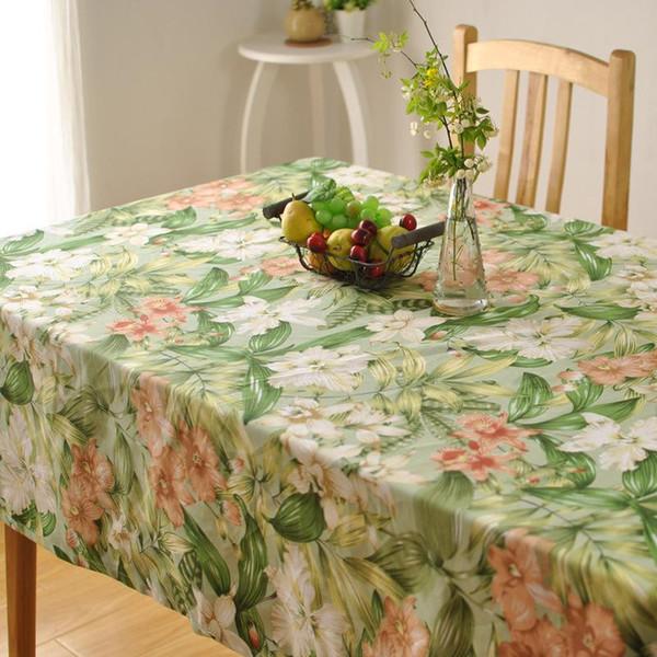 ventes à chaud feuilles frais tissu table coton épais fleur hôtel maison mode magasins d'usine drapé de style country américain