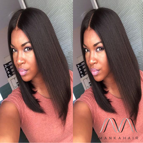 8A Short Bob Lace Wigs Glueless Full Lace Human Hair Bob Wigs For Black Women human Hair Straight Lace Front Bob Wigs