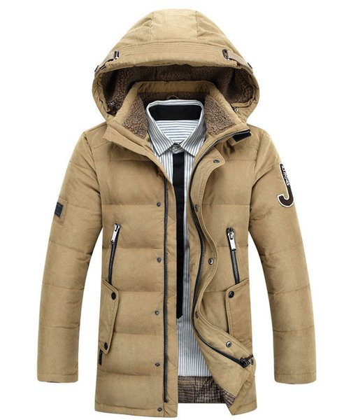 50% OFF Free Shipping Thick Warm Duck Down Winter Jacket Men Winter Parkas Hooded Coat Outdoor Down-Jacket 160