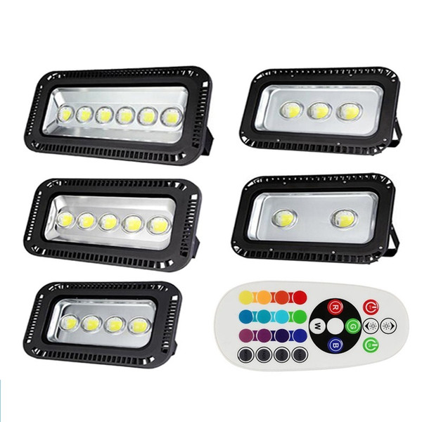 200w 300w 400w 500w 600w Rgb Led Floodlight Color Change Synchronize Outdoor Led Flood Light Waterproof For Landscape Lighting Motion Detector Flood