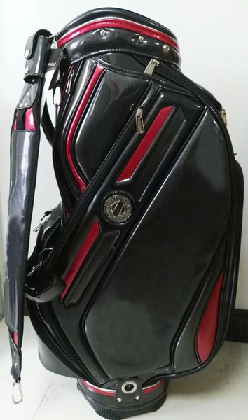 "best selling golf staff bag 2016 new style Ti 610 PU Golf staff Bags 9"" in black"