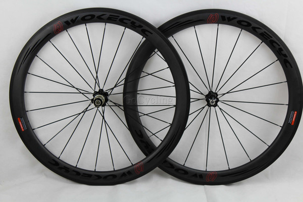 700C 50mm Depth Carbon Rims One pair Road Bike Rim Basalt Brake Line Bicycle Rim