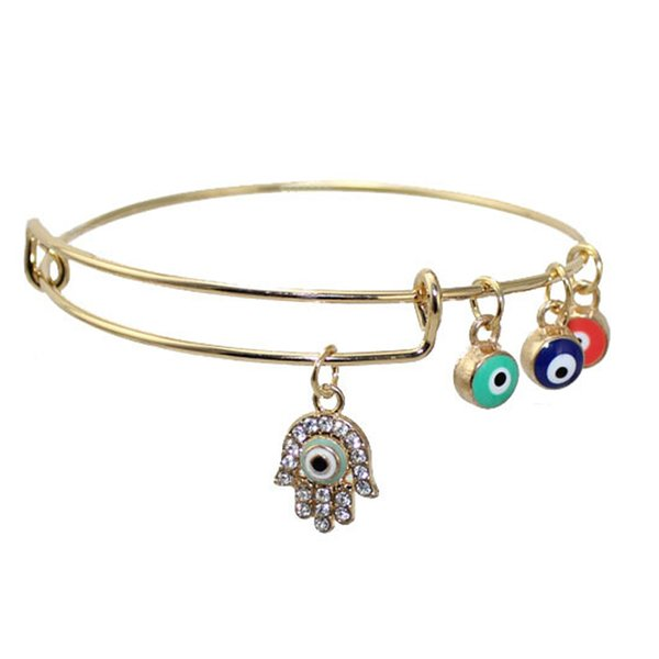 Fatima Hamsa Good Luck Evil Eye Bracelet Handmade Braided Sideway Hand Charm Bracelets For Women Girl Best Friends Jewelry