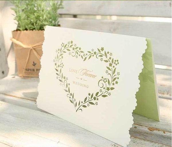 Wedding Invitations Cards Hollow Heart Shape Wedding Invitation Cards Romantic Flower Wedding Invitations Card Free Printing