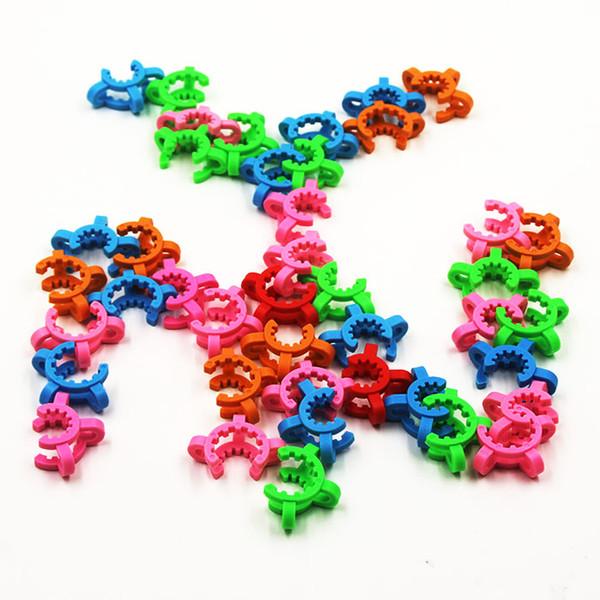 10mm 14mm 19mm ortak boyutu Plastik Keck Klip Renk Plastik Keck Laboratuvar Laboratuvar Cam Kelepçe Cam nctar toplayıcı kitleri için Kelepçe Klip