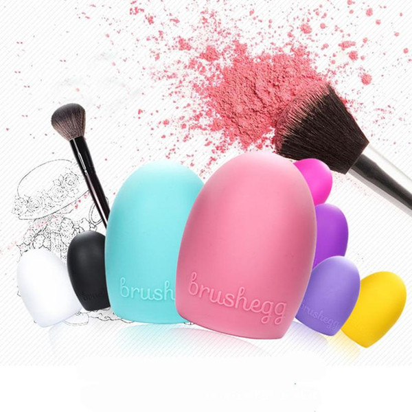 Egg Cleaning Glove MakeUp Washing Brush Scrubber Board Cosmetic Brushegg Cosmetic Brush Egg 7colors brushegg