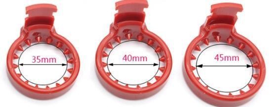 Apenas anel de espinha de 3 peças (vermelho)