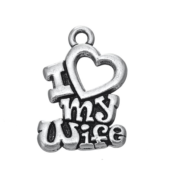 2018 Myshape Word I Love My Wife And Husband Hollow Heart Charms Jewelry  For Women Letter Pendant For Bracelets Making From Kiki_jewelry, $3 8 |