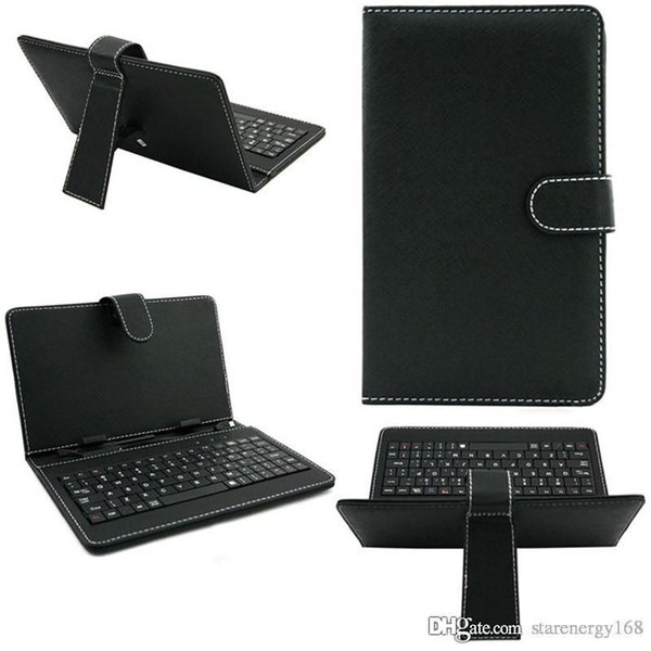 10PCS 2014 colours USB Keyboard Leather Case For 9 inch Android Tablet pc Folding Leather Protective Case B-JP