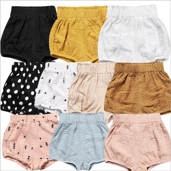 top popular Baby PP Pants INS Ruffle Bloomers Striped Gold Dot Harem Pants Summer Shorts Kids Causal Beach Shorts Diaper Cover Briefs Underpants B3040 2020