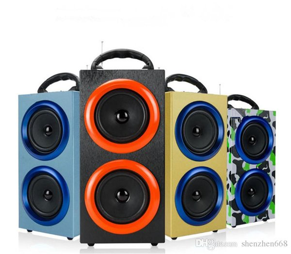 Portable Wireless Bluetooth Speakers Outdoor Sports Subwoofers Handsfree with Mic Support TF Card FM Radio Fashion Luxury Loud Speaker 63-YX