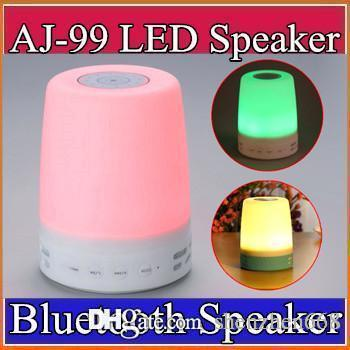 Smart Bluetooth Speaker with Colorful Mood lamp,Touch Atmosphere lamp support SD card Hands-free ambient lights wireless speaker J-YX