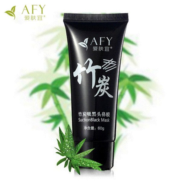 AFY Nose Mask Suction Charcoal Purifying Acne Pore Suction Black Mud Clean Blackhead Remover Bamboo Charcoal Shrink Pores