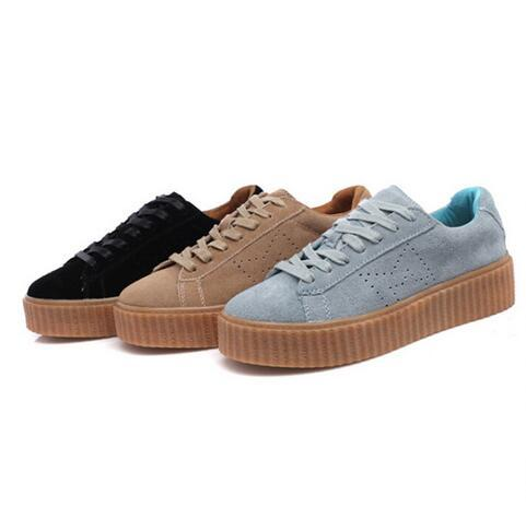 2016 NEW BASKET CREEPERS GLO RIHANNA SNEAKERS CASUAL WOMEN 'S SPORTS RUNNING JOGGING SHOES WOMENS FASHION CLASSIC SHOES 36-44