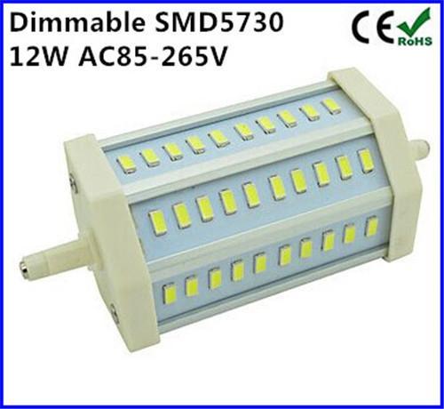 Regulável R7S lâmpada LED 12 W SMD5730 30 leds r7s 118mm J118 Lâmpadas de halogéneo lâmpada de poupança de energia LEVOU holofote frete grátis