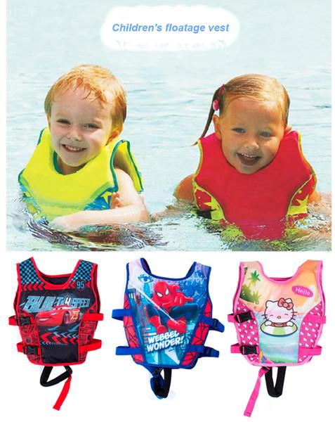 Vente en gros- 2-5 ans enfant gilet bébé entraîneur de natation pêche gilet de sauvetage cercle gonflable flamingo bébé piscine accessoires de piscine