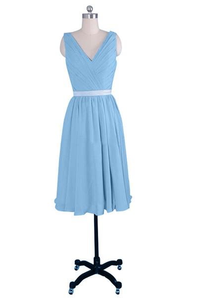 Nuovo stilista A Line moda mini scollo a V corto abito sexy ritorno a casa popolare abito da damigella d'onore abito da festa da sposa abito di promenade