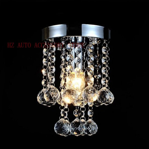 Free shipping Luxury Small Crystal Chandelier Lustre Light , with Stainless Steel Frame and Top K9 Crystal D15cm H23cm