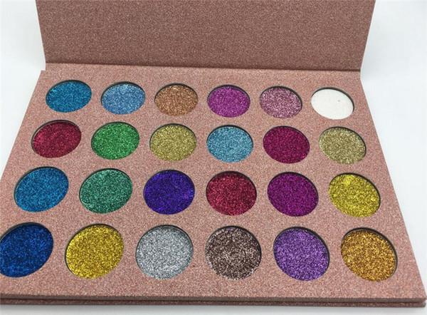 Дропшиппинг блеск палитра теней для век макияж пигментированные блеск тени мерцание красоты косметика тени для век палитра 24 цветов набор
