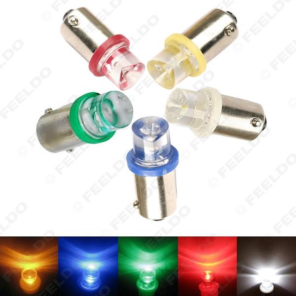 50pcs 5-couleurs BA9S W5W 1895 Voiture LED Voyant Lumière Intérieur Lampes Ampoules Concave DC12V # 1649
