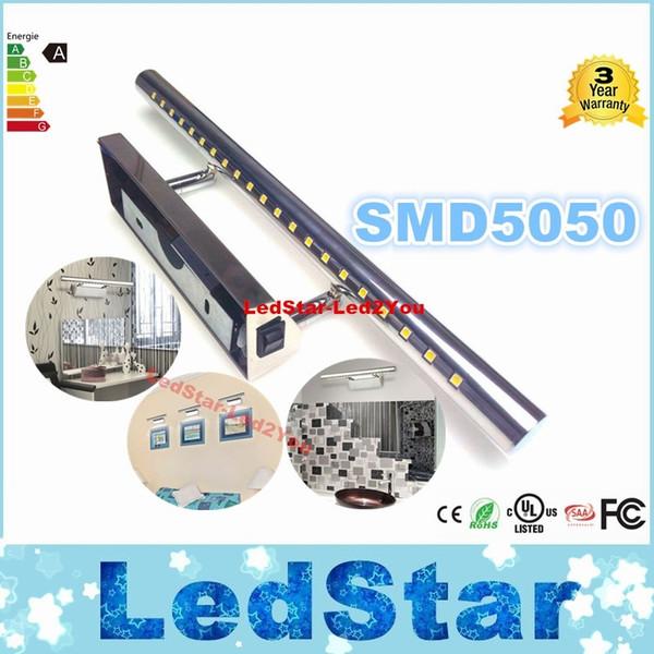 Banyo aynası aydınlatma Sıcak beyaz / Beyaz Duvar Lambaları 5050 SMD LED 7 w Yüksek kalite ayna ön aydınlatma paslanmaz çelik L0274