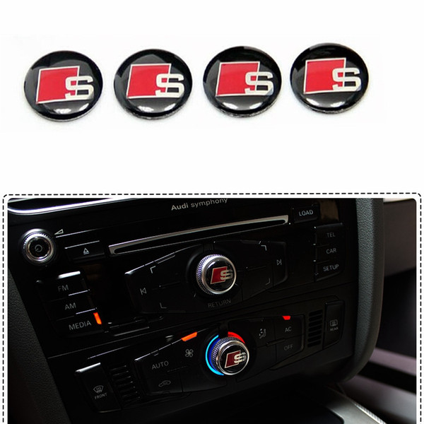 top popular control panel knobs decorative stickers S Line Sline Logo Badge Sticker interior refit the highlight special labeling for Audi 2021
