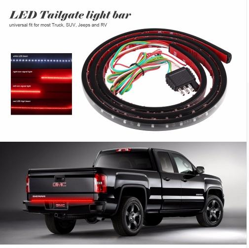 2019 60 Flexible Led Light Strip Tailgate Bar Backup Reverse Brake Tail Turn Signal Light 5 Function Red White For Truck Suv Pickup From Claire1688