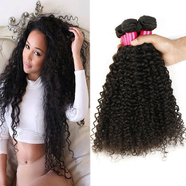 Mongolian Hair Afro Kinky Curly Weave Human Hair Extensions