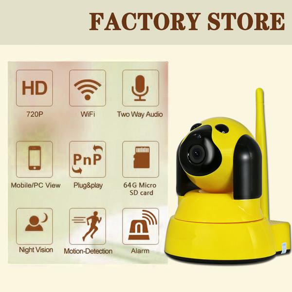 Baby Camera Dog HD 720P 1MP Wireless IP Camera Wifi P2P Onvif Video Surveillance Security Camera CCTV Home WiFi Camera Alarm IR Cam Micro SD