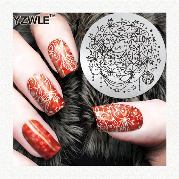 Wholesale- YZWLE Nail Stamping Plates Jelly stamper Nail Art Printing Plate Image Plates Finger DIY Manicure Template Tool Sets